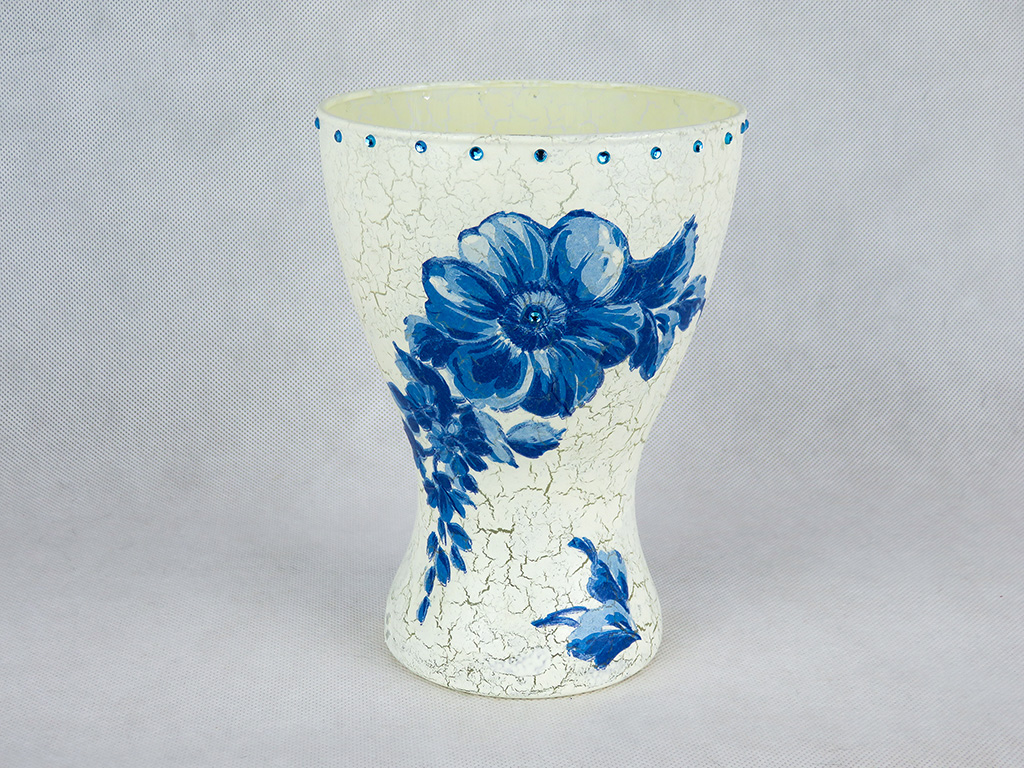 Lampion Kwiat Niebieski