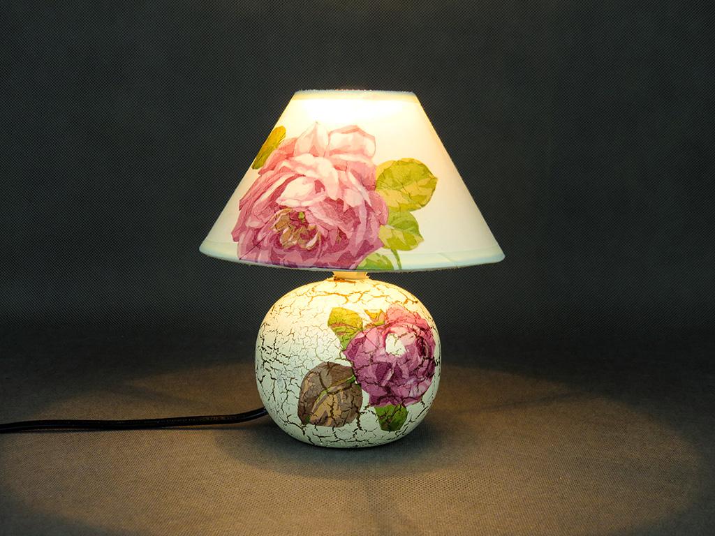 Lampka - róża